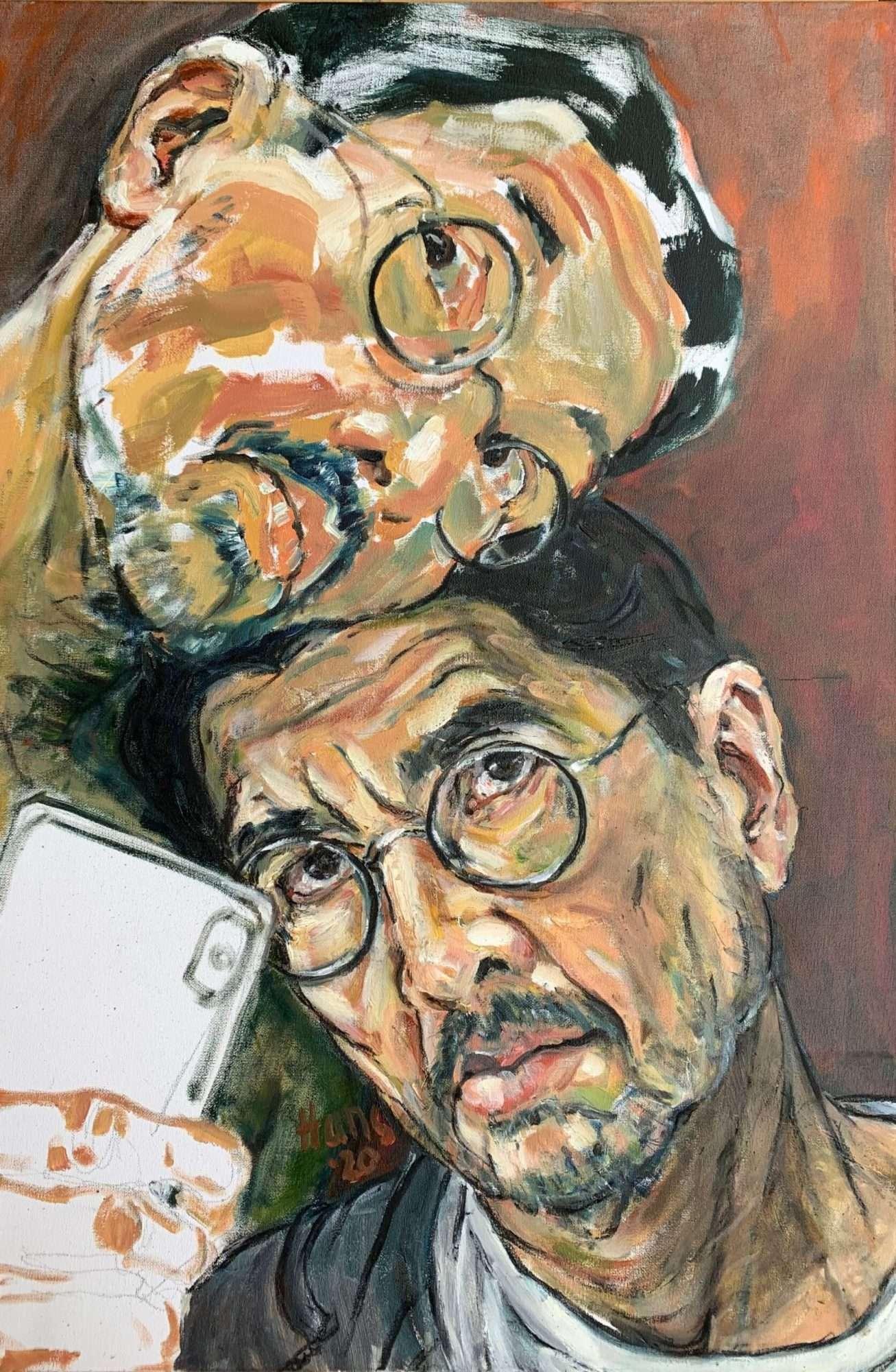 double self portrait of Hans