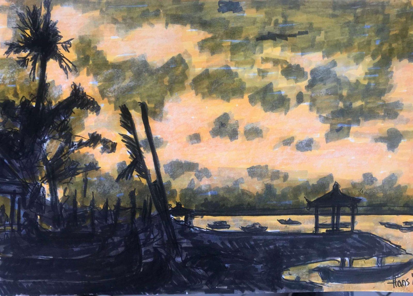 sanur beach sunrise